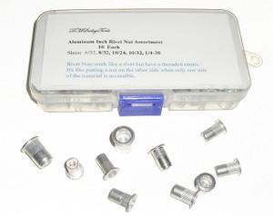 Aluminum Rivet Nut Inch size  Fastener Assortment Including 10/32s
