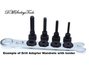 Inch & metric Size Drill Adapter Mandrel.