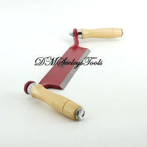 DRAW SHAVE KNIFE SHARP Burgandy HAND TOOL BLADE of Carbon Steel & FREE SHIPPING