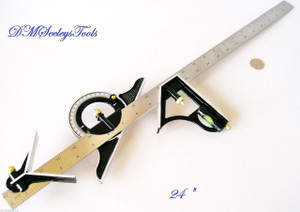 "COMBINATION TRI SQUARE PROTRACTOR LEVEL NEW 24"" & FREE Shipping"