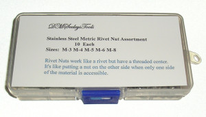 Rivet Nut Metric Assortment Kit in Stainless Steel for Home and work Shop