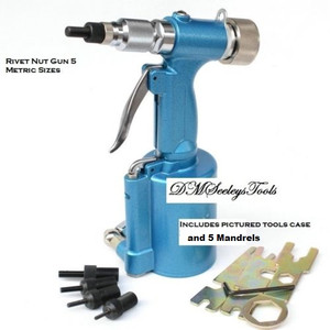 Pneumatic rivet nut tool.