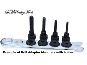 Inch & metric Size Drill Adapter Mandrel.