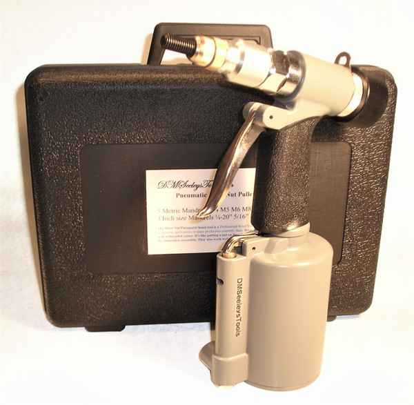 Pneumatic Rivet Nut Air Tool  with Inch & Metric Mandrels