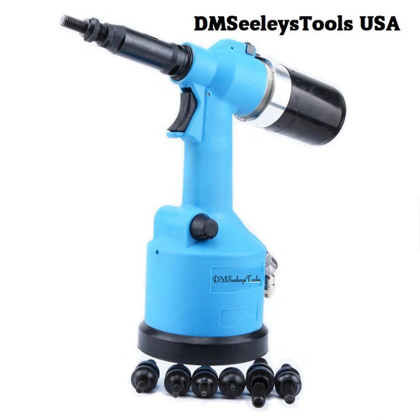 Full Automatic Pneumatic Rivet Nut Tool Gun with Metric Size Mandrels