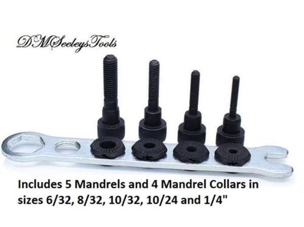 Rivet Nut Drill adapter Mandrels in inch sizes.