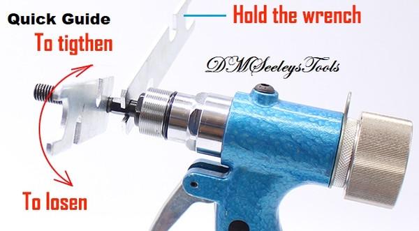 Pneumatic rivet nut tool quick guide.