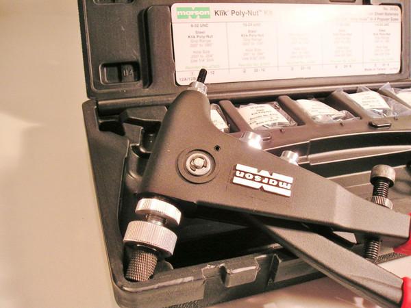 Marson Alcoa Rivet Nut Metric Size Fastener thread setter Poly nut Installation Kit