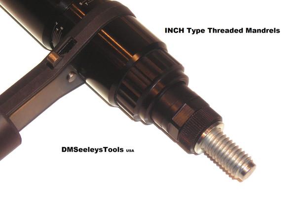 Ratchet Rivet Nut Inch Size Mandrel hand Tool.