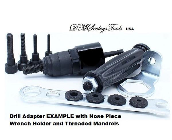 Inch Rivet Nut Drill Adapter Mandrels and Nose pieces