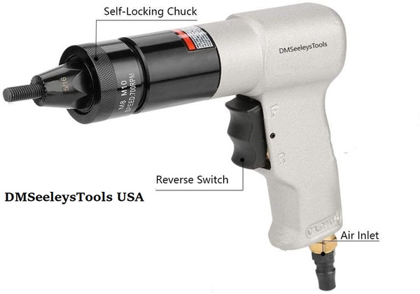 Rivnut Nutsert Metric Rivet Nut Gun Kit M-8 & M-10.