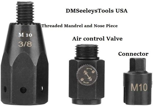 Mandrel Nose Piece Valve and Connector for Rivnut Nutsert tools. .