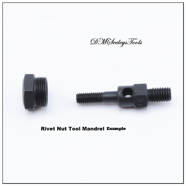 Rivet nut threaded insert puller Mandrel for Rivnut Nutsert.