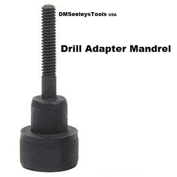 Metric Rivet Nut Drill Adapter Mandrels without Nose Pieces