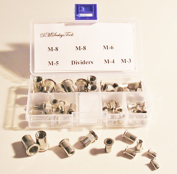 Rivet Nut Threaded Metric Stainless Steel riv nut Assortment Home & Shop Kit