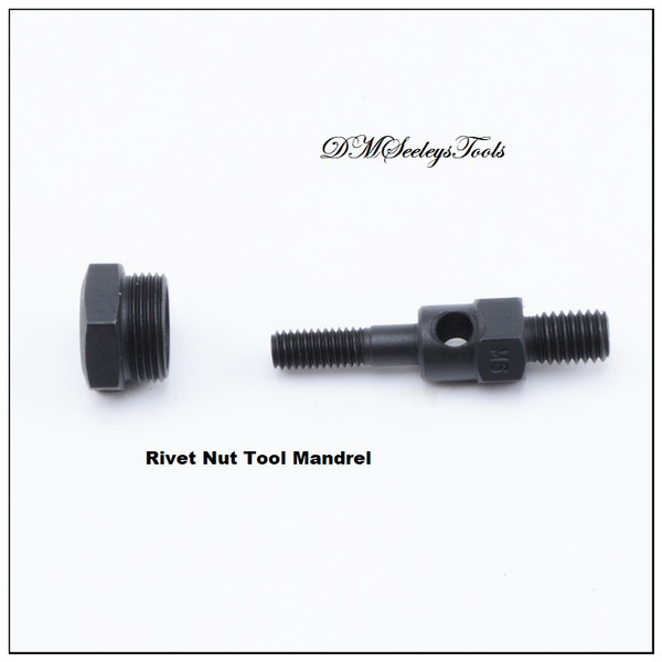 Rivet nut tool Mandrels and nose piece in Inch or Metric.
