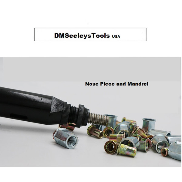 Rivet Nut Metric Air Tool full auto Nose piece and Mandrel.
