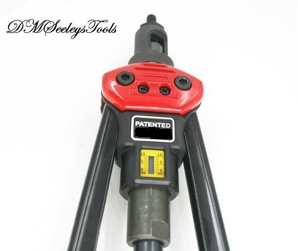 Auto Rotate Rivet Nut long arm puller tool gage view.