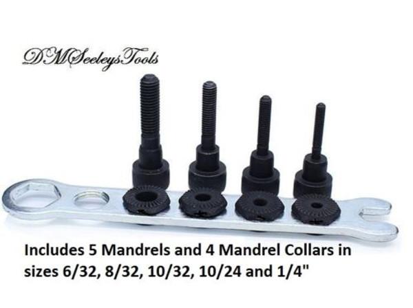 Rivet Nut Drill adapter Mandrels in inch sizes.
