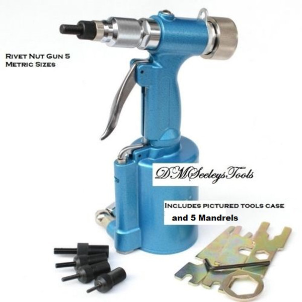 Rivet Nut Pneumatic riv nut threaded insert tool nut riveter with 5 metric  sizes