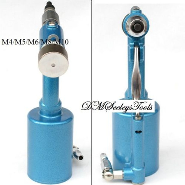 Front and rear Pneumatic rivet nut tool.