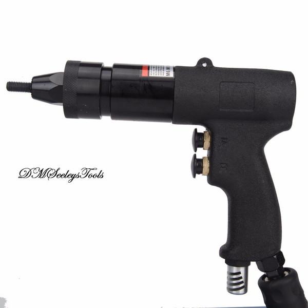 Pneumatic Rivet Nut Gun Threaded Rivet quick change Metric Riv Nut  M-6, M-8, M-10