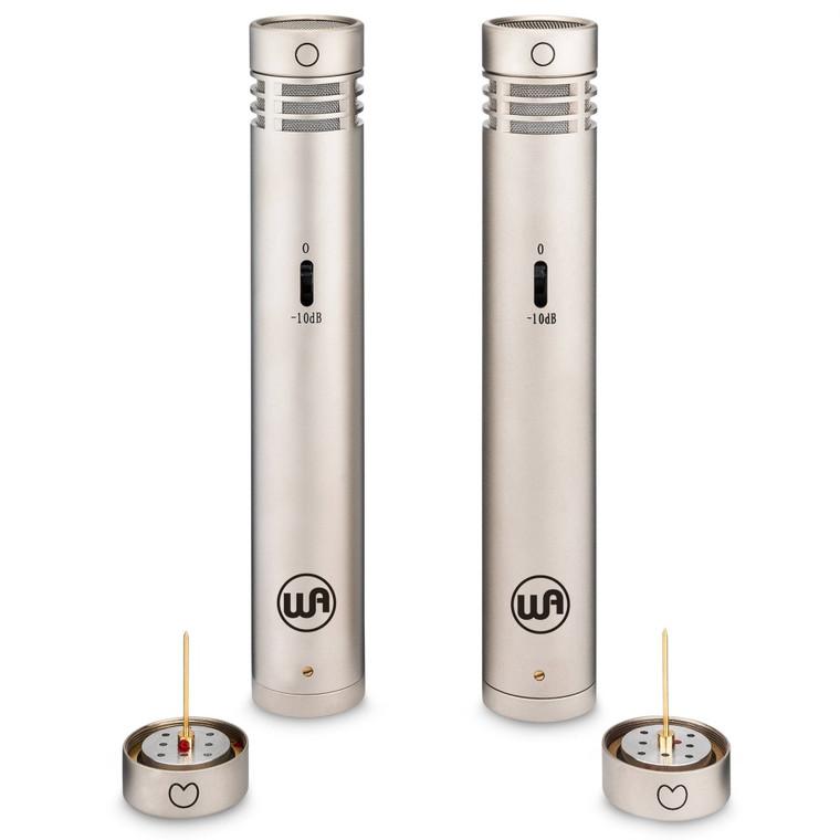 WARM AUDIO WA84-ST-OC Dual Capsules Stereo Nickel Pair Small Diaphragm Condenser Studio Microphones