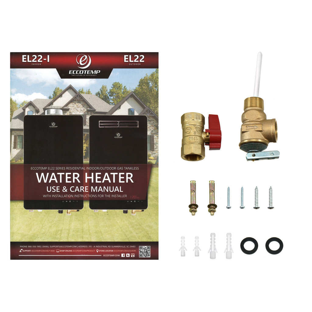 Eccotemp EL22i Indoor 6.8 GPM Natural Gas Tankless Water Heater Accessories