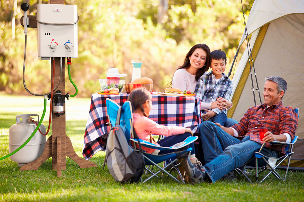 Eccotemp L5 Portable Outdoor Tankless Water Heater Lifestyle View