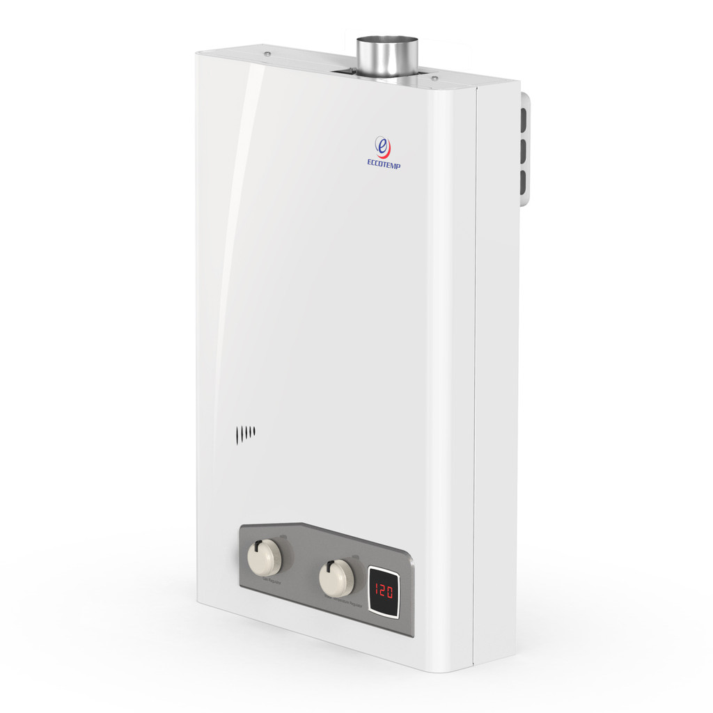 Eccotemp FVI12 Indoor 4.0 GPM Natural Gas Tankless Water Heater Side View