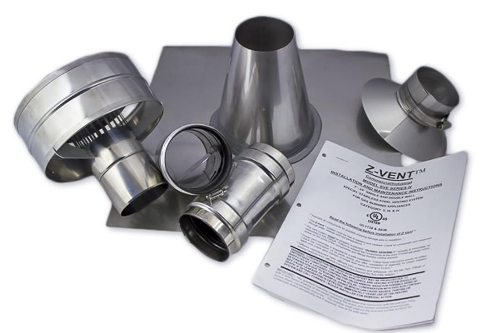 "Eccotemp 3"" Vertical Vent Kit"