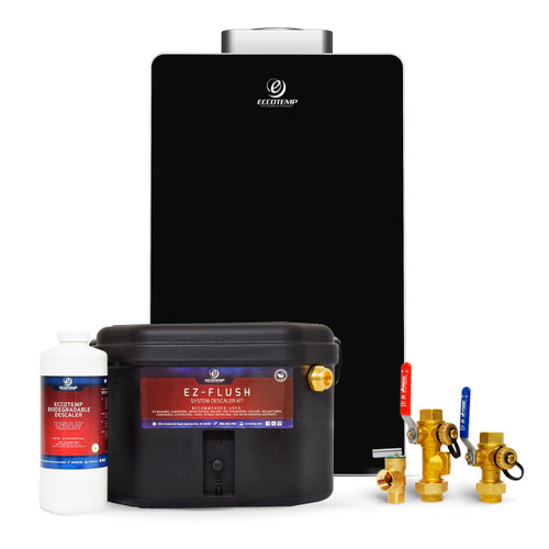 Eccotemp EL22i Indoor 6.8 GPM Natural Gas Tankless Water Heater Service Bundle