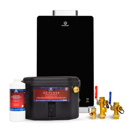 Eccotemp i12 Indoor 4.0 GPM Natural Gas Tankless Water Service Bundle