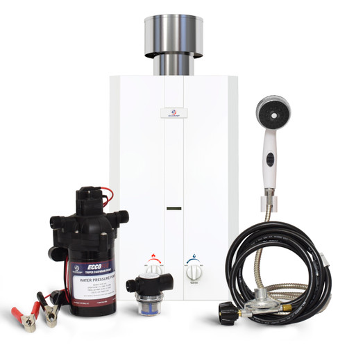 Eccotemp L10-PSSET Portable Outdoor Tankless Water Heater Front View