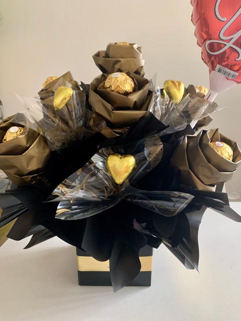 Black & Gold Rose Bouquet