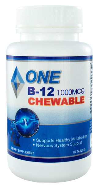 Chewable B12 (Methylcobalamin) 100 Tablets 1000mcg