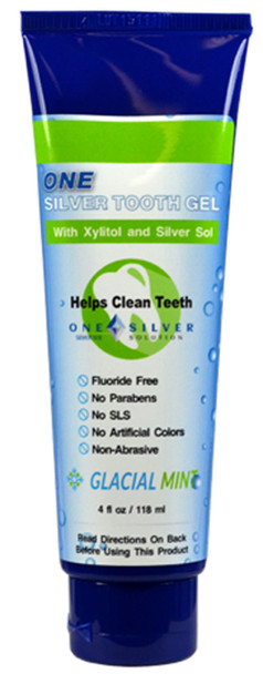 Silver Sol Tooth Gel with Xylitol and Organic Peppermint. 4oz tube