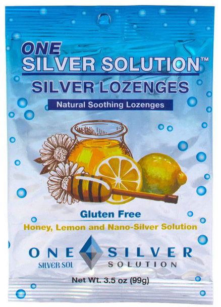 Silver Lozenges. Bag of 24. Organic Honey, Natural Lemon Oil, and Nano-Silver