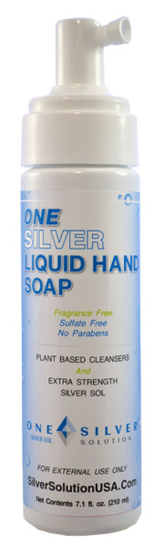 Silver Sol Liquid Hand Soap. Sulfate, Fragrance FREE. No Parabens