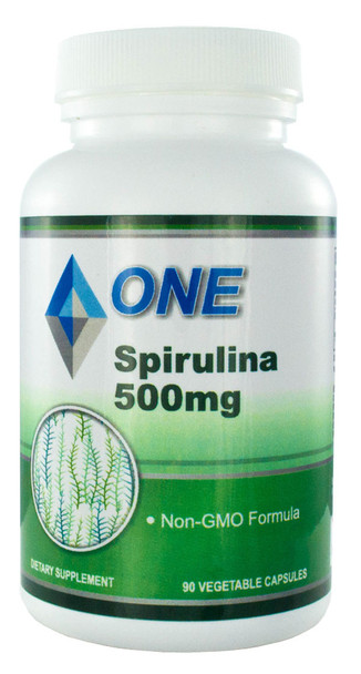 """Spirulina 500 mg. 90 Vegetable Capsules """"The Green SuperFood"""""""