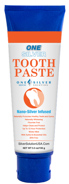 Silver Toothpaste. 5.5 oz. 20 ppm.  The Natural Toothpaste
