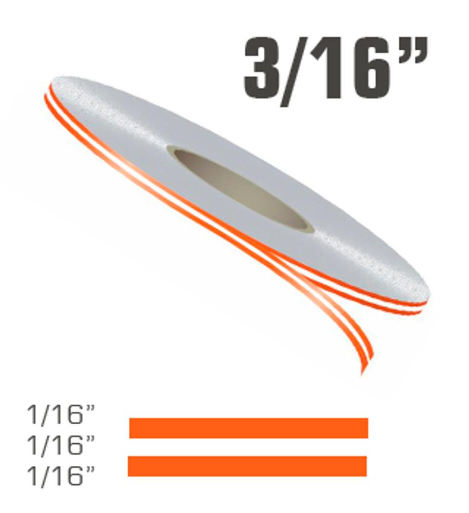 "3/16"" x 150' Double Line Single Color Vinyl Pinstripe Roll Configuration"