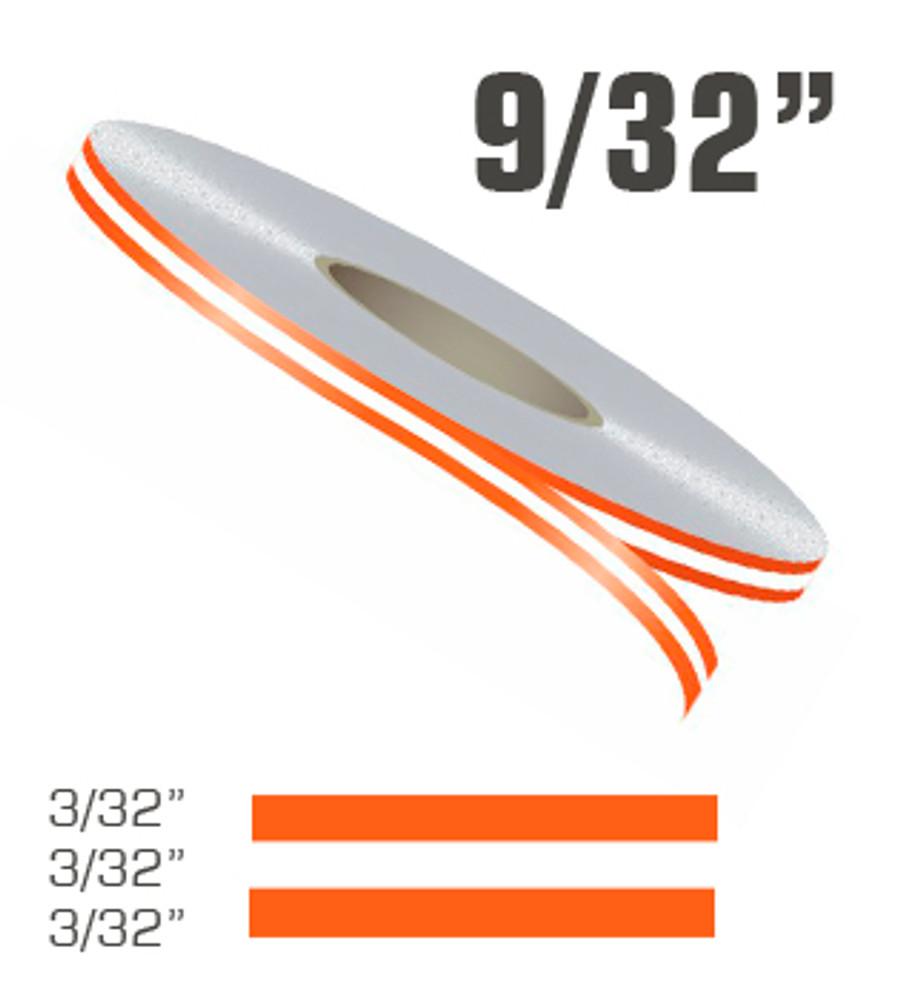 stripeman.com 9/32 Inch Double Line Single Color Vinyl Pinstripe Roll Configuration