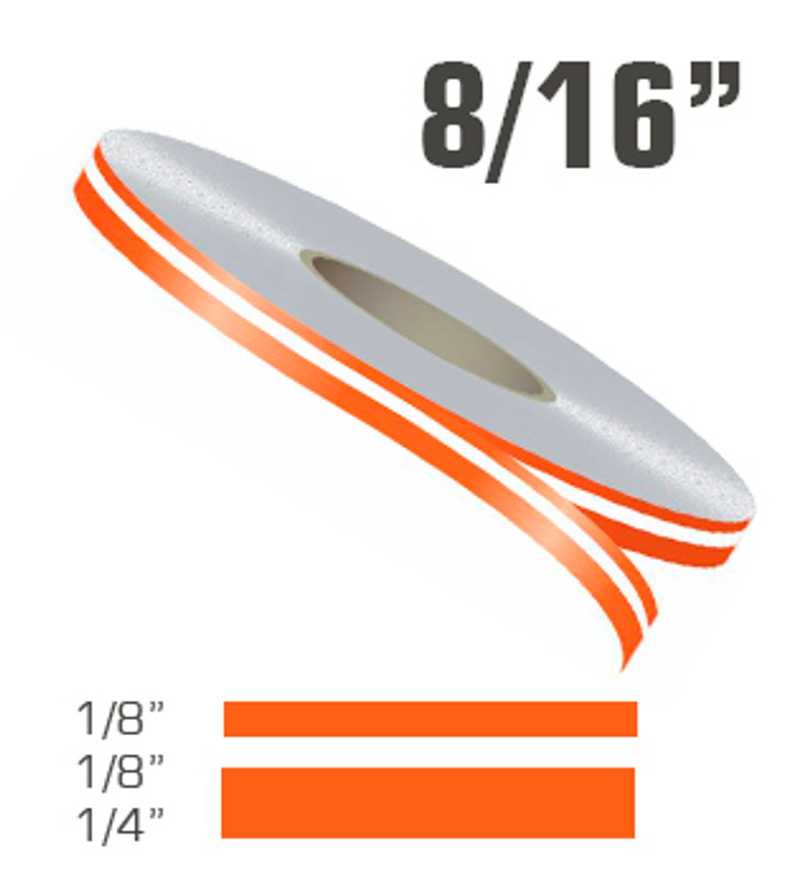 "8/16"" x 150' Double Line Single Color Vinyl Pinstripe Roll Configuation from Stripeman.com"