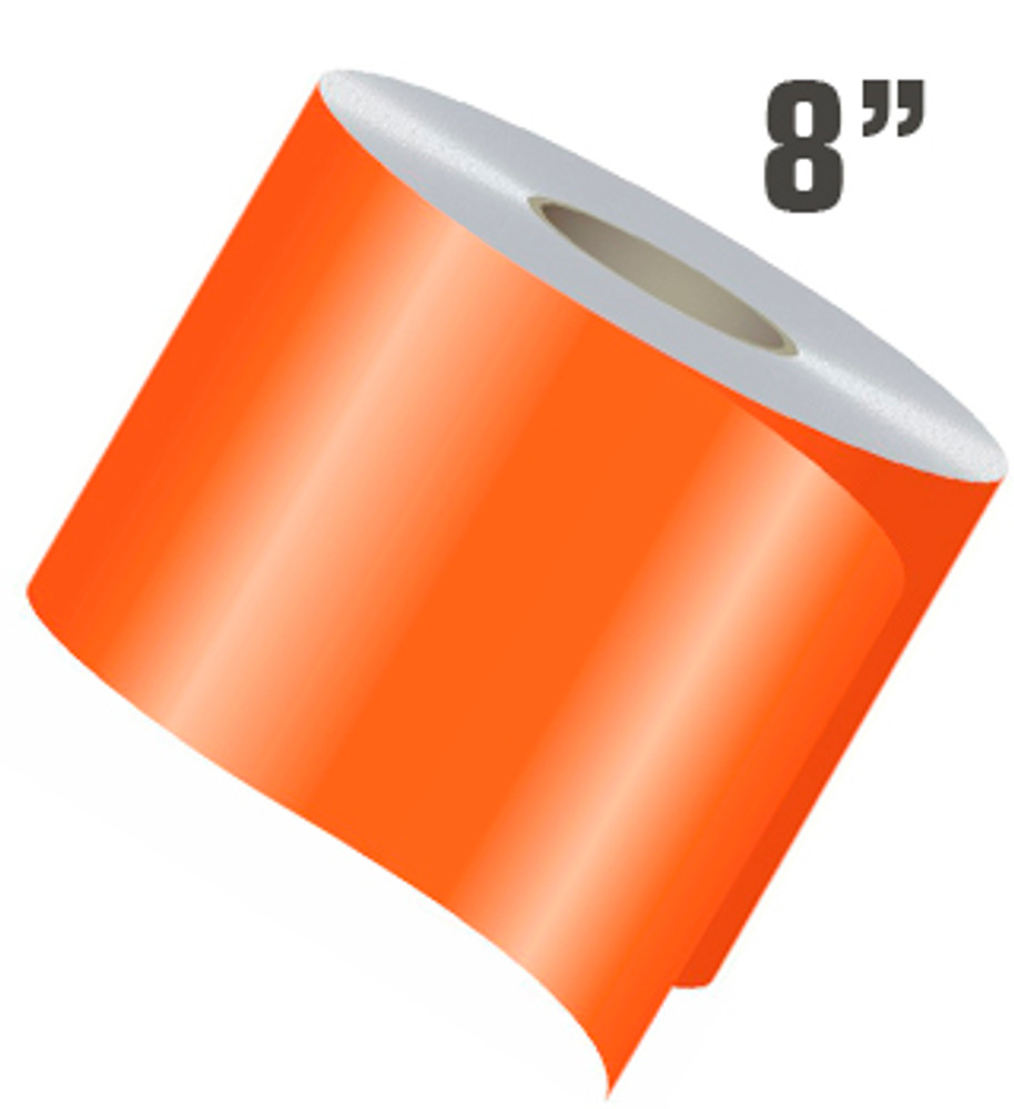 stripeman.com 8 Inch Wide Single Line Single Color Vinyl Stripe Roll