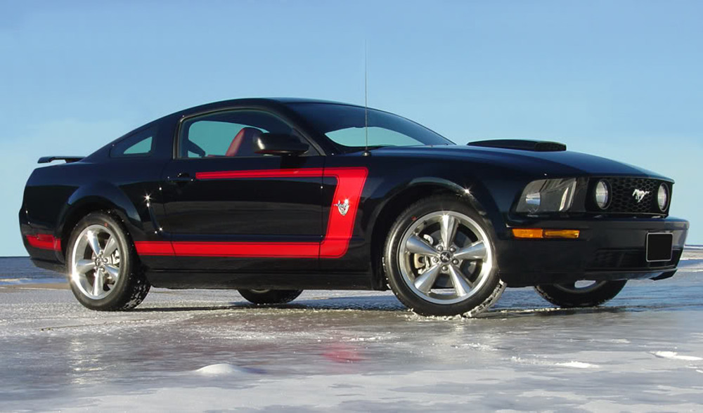 05-09 Ford Mustang Fastback 1 Graphic Kit Red