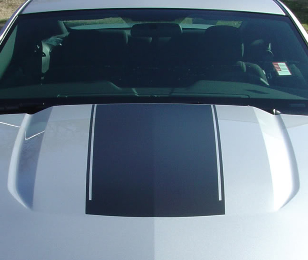 stripeman.com 2010-2012 Ford Mustang Launch Graphic Kit Hood Close Up