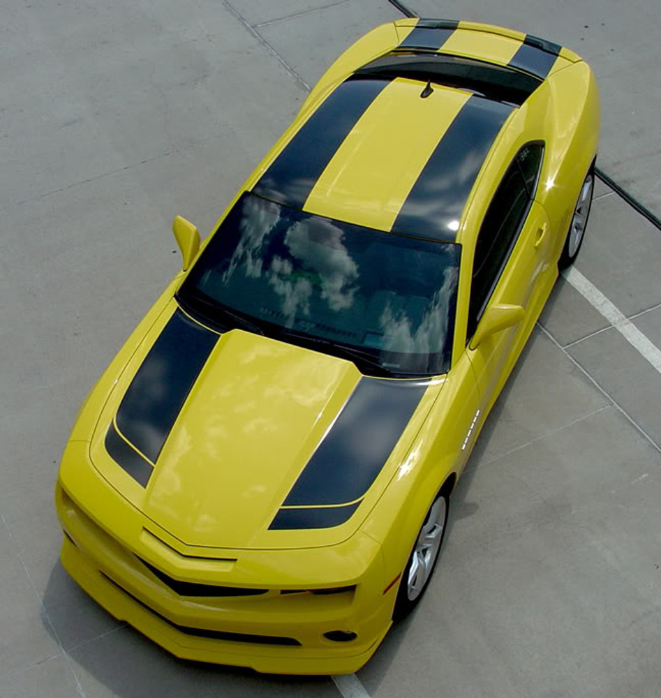 09-13 Chevrolet Camaro Bee 2 Racing Stripes Graphic Kit Front