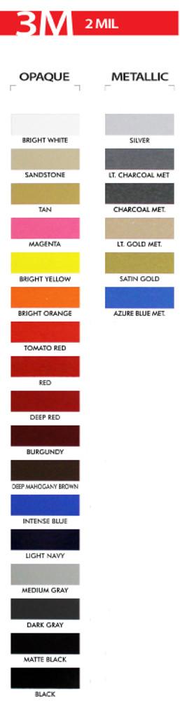 "stripeman.com 1/8"" Roll 3M Color Chart"