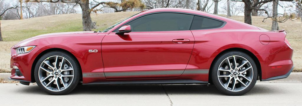 2015 Ford Mustang Stallion Rocker 1 Graphic Kit